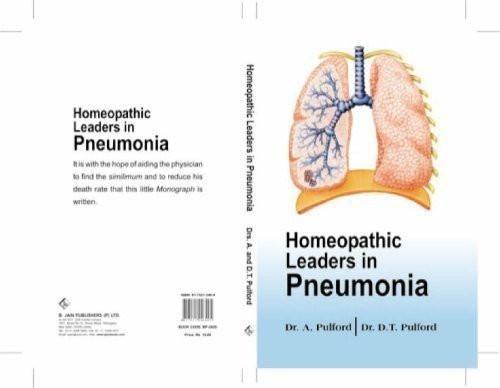 Homoeopathic Leaders in Pneumonia [Paperback] [Jun 30, 1993] Pulford, Alfred]