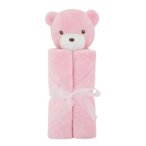 Baby Care Winter Boy Girl Gift For Newborn Blanket Soft Warm Coral Fleece Plush Animal Blanket Head 76x76cm Baby Blanket