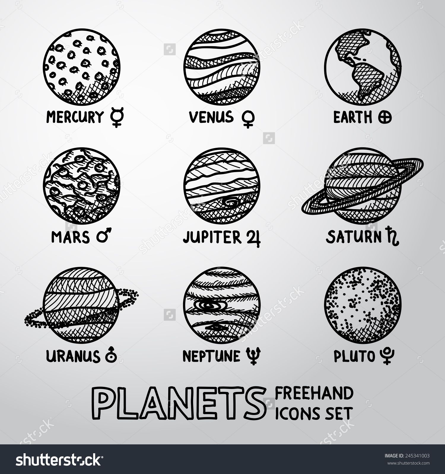 Image result for planets drawing outer space pinterest for How to doodle names