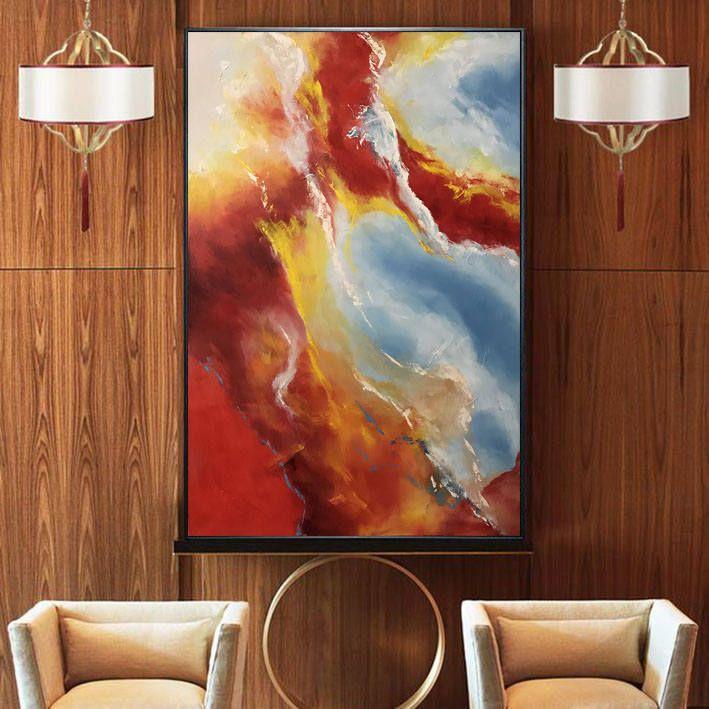 Без рамы импрессионизм масло живопись холл настенные домашний декор пейзаж холст 3 размер