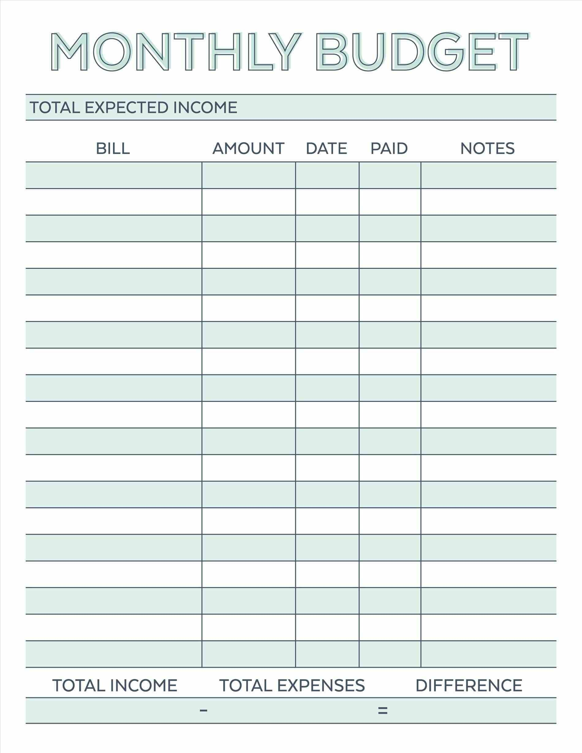 budget planner planner worksheet monthly bills template free printable free simple monthly budget planner printable monthly
