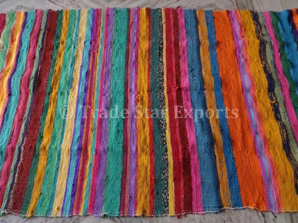 Amazon Com Trade Star Handmade Rag Rug Carpet Runner Large Chindi Area Rugs 4x6 Indian Dhurrie Floor Mat Handmade Rag Rug 4x6 Area Rugs Rag Rug