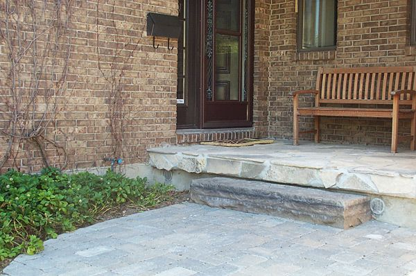 Simple Natural Stone Step