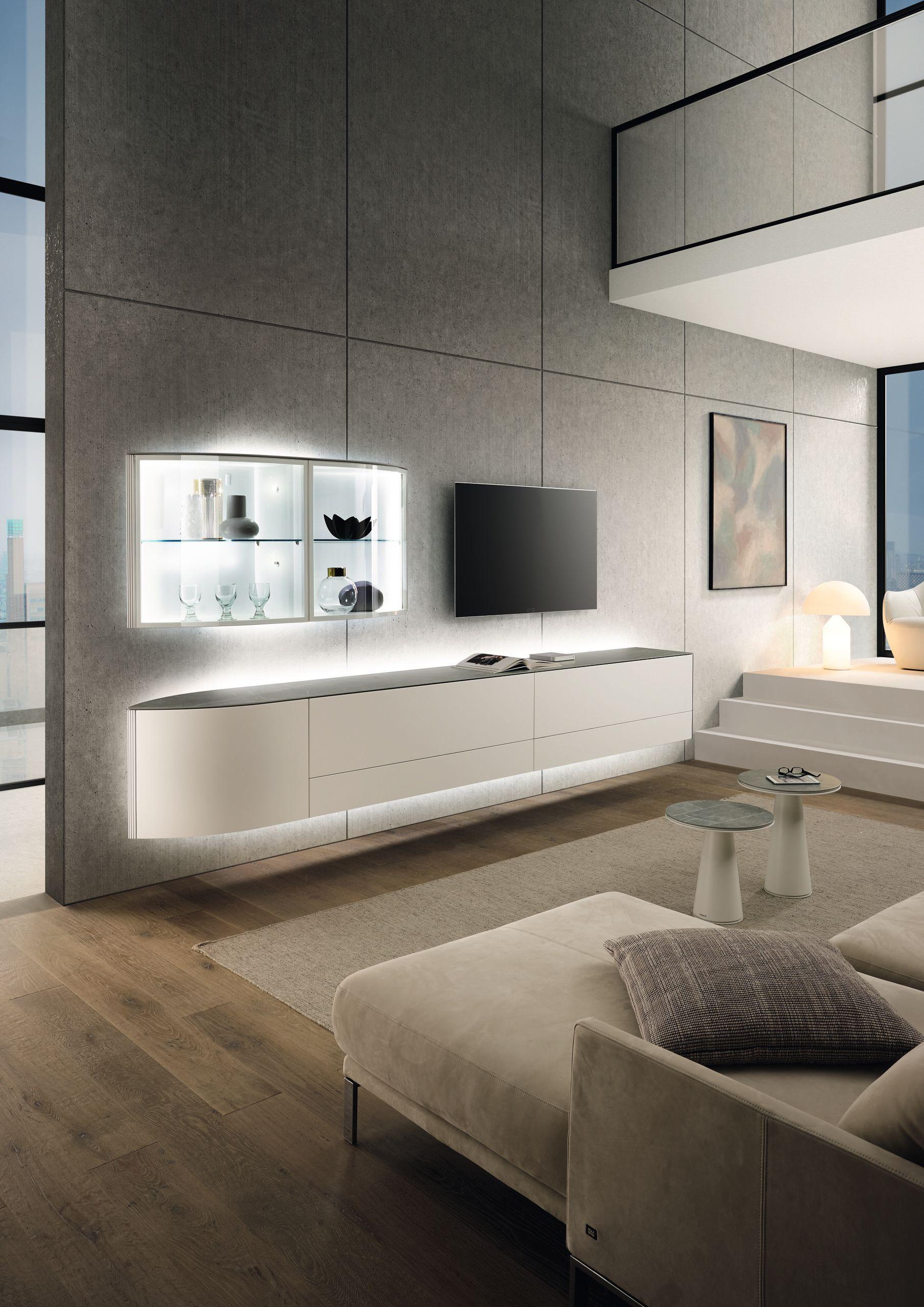 Wohnwand HÜLSTA Navis in 9  Wohnwand modern, Hülsta wohnzimmer