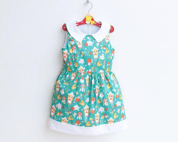 DAINTY Girl Dress pattern Pdf sewing pattern Peter Pan par PUPERITA ...