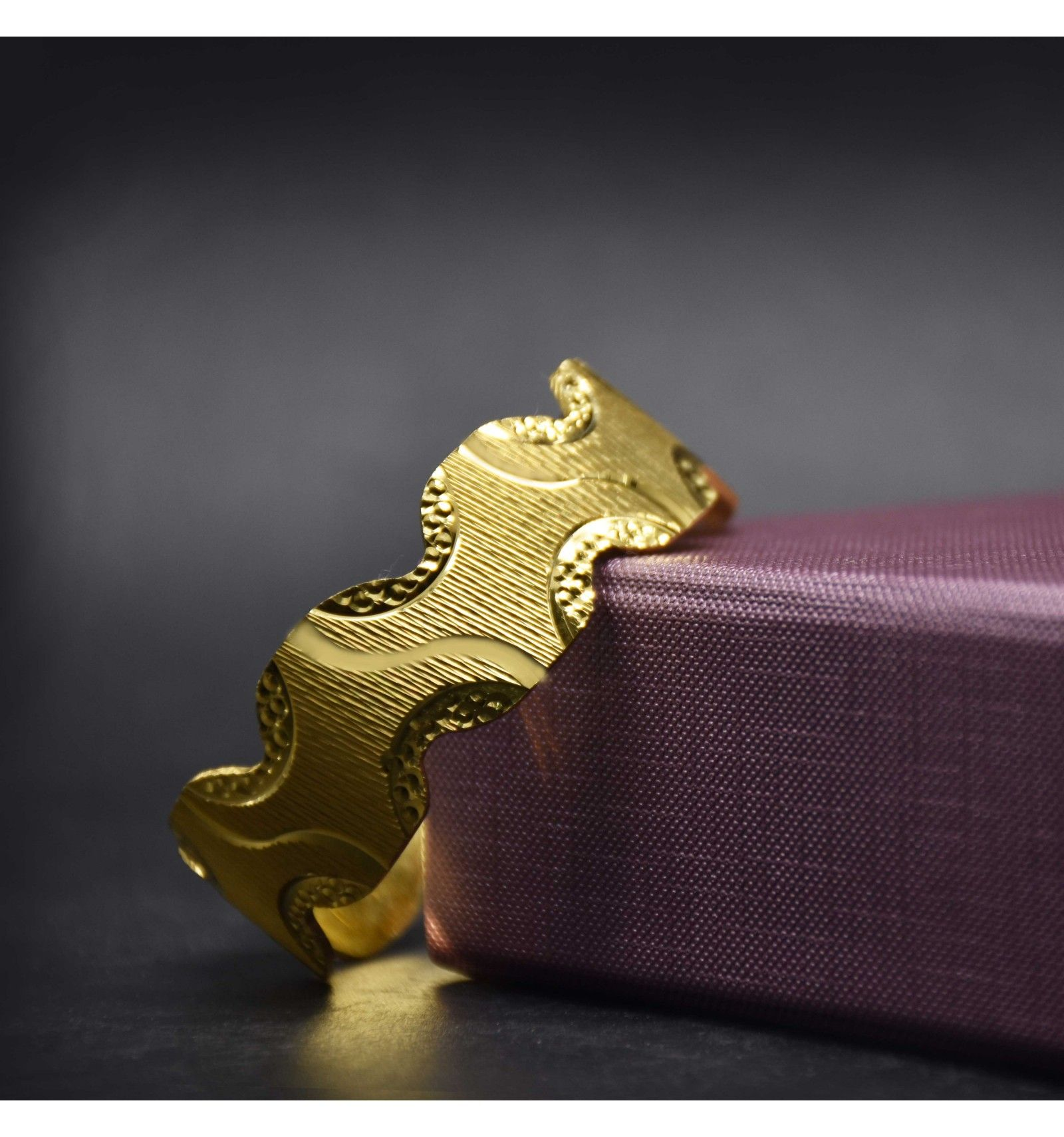 84a4d5446f7 One Gram Gold Plated Zig Zag Machine Cutting Bangles   Bangles ...