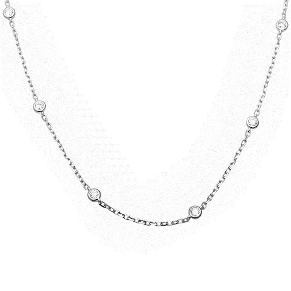 Necklaces and pendants bezel set cz by the yard