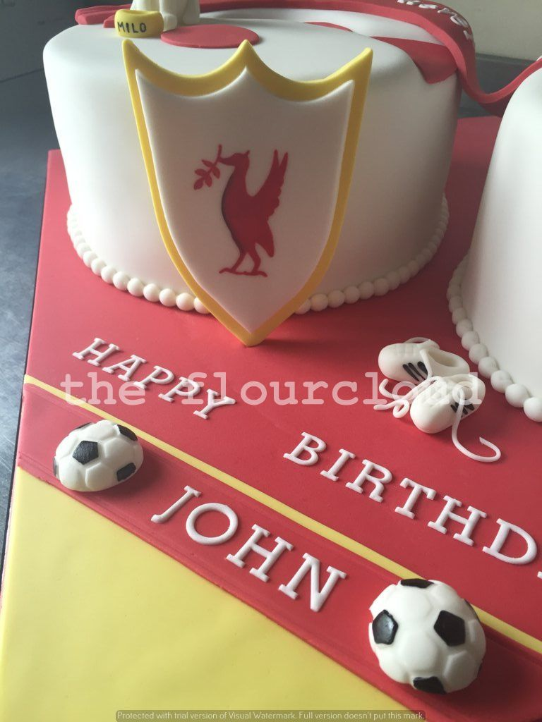 Liverpool Football Club themed birthday cake Celebration Cakes