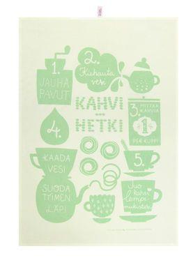 Kahvihetki -keittiöpyyhe, vihreä