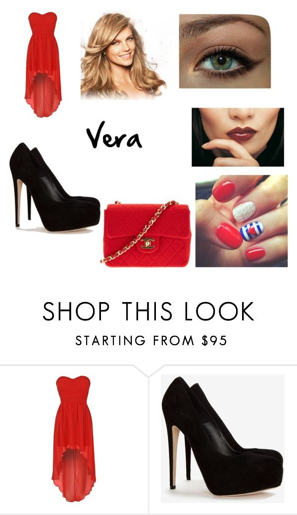 """""""Untitled #118"""" by vera-daniela ❤ liked on Polyvore featuring beauty, Rare London, Brian Atwood, Clairol and Chanel"""