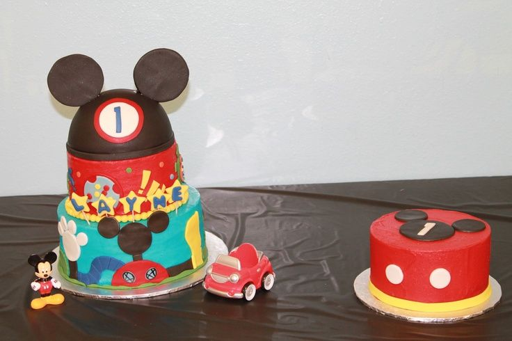 Mickey Mouse Smash Cake: Mickey Mouse Smash Cake Ideas