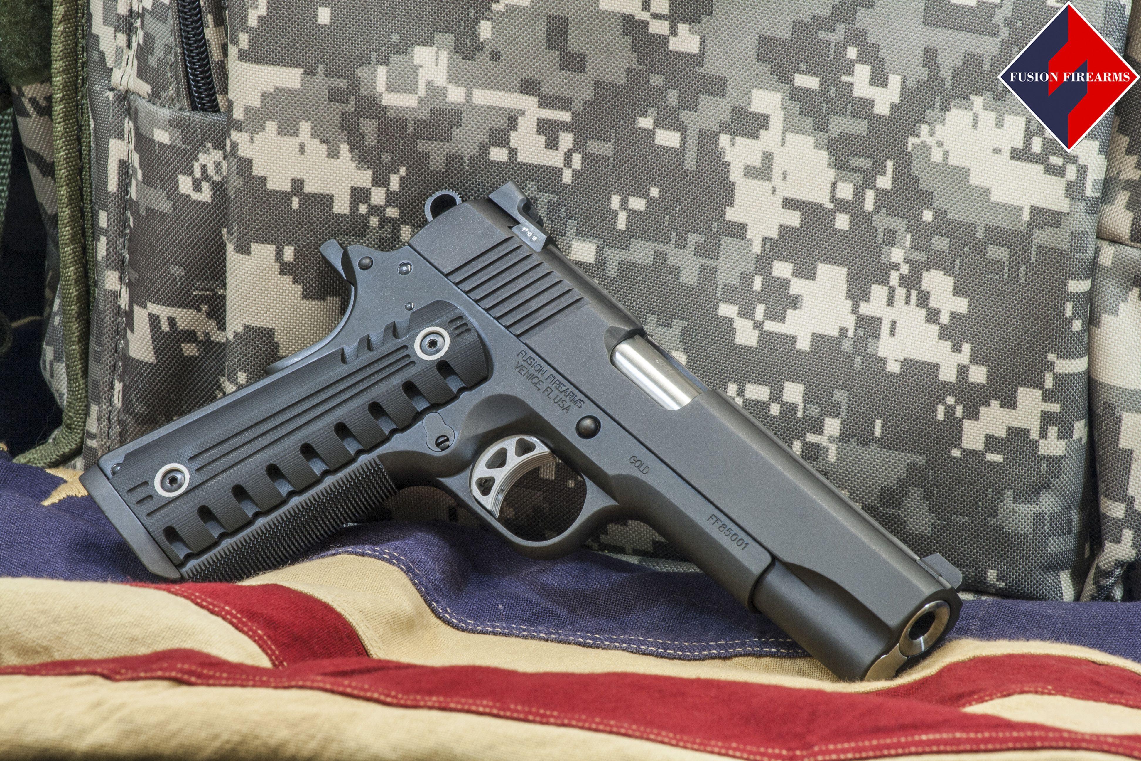 Customized Fusion Freedom Series Gold 1911 Pistol Firearms 1911 Pistol Guns
