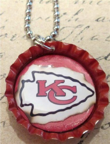 Red KC Chiefs Arrowhead Necklace