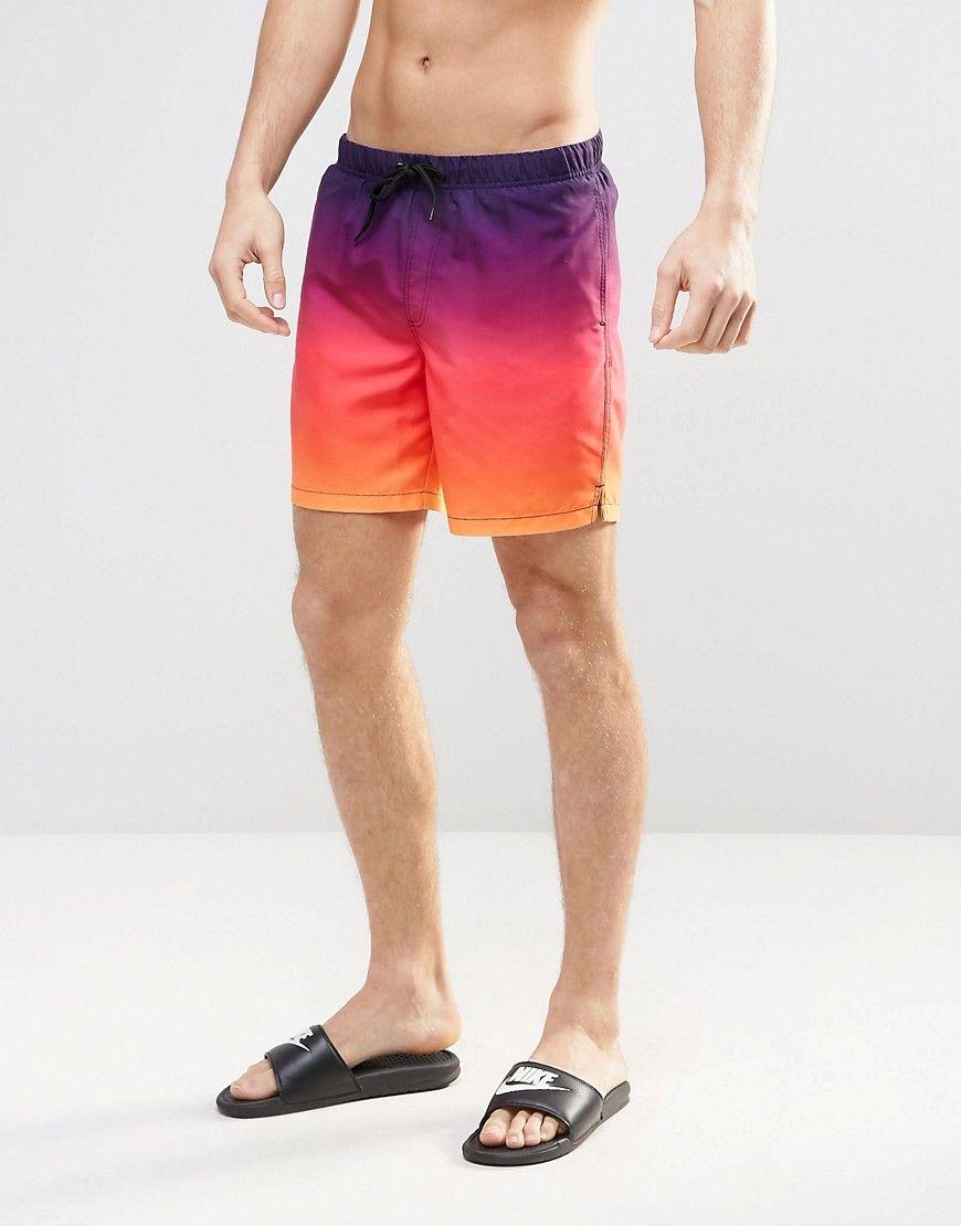 ca40c976d3 Image 1 of ASOS Mid Length Swim Shorts In Dip Dye | Swimwear ...