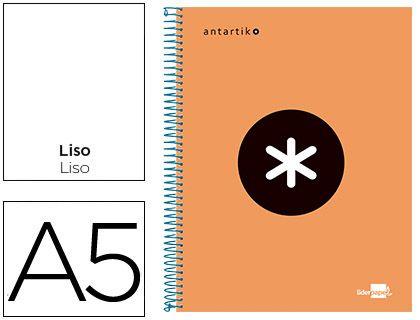Liderpapel Cuaderno Espiral A5 Micro Antartik Tapa Forrada 120H 100 Gr Cuadro 5Mm 5 Bandas 6 Taladros Color Rojo