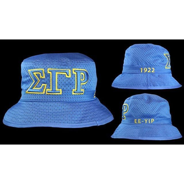 Sigma Gamma Rho Bucket Hat Cap Royal Blue