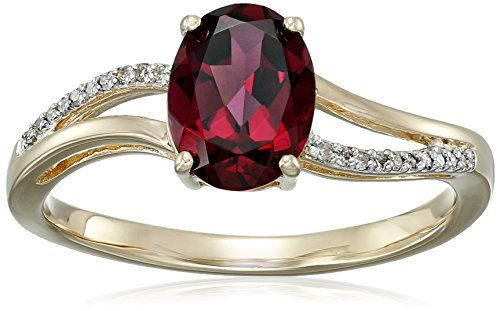 14k Yellow Gold Oval Shaped Rhodolite…