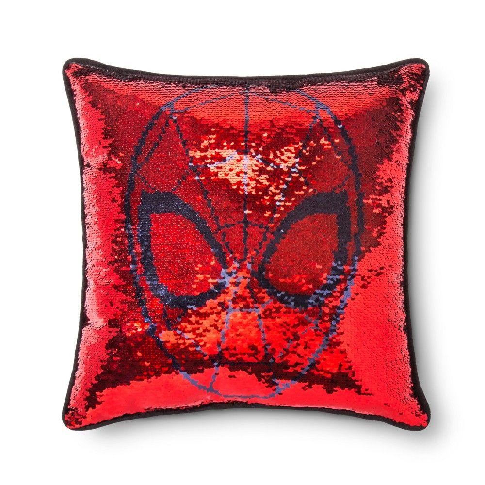 marvel spider man sequins throw pillow