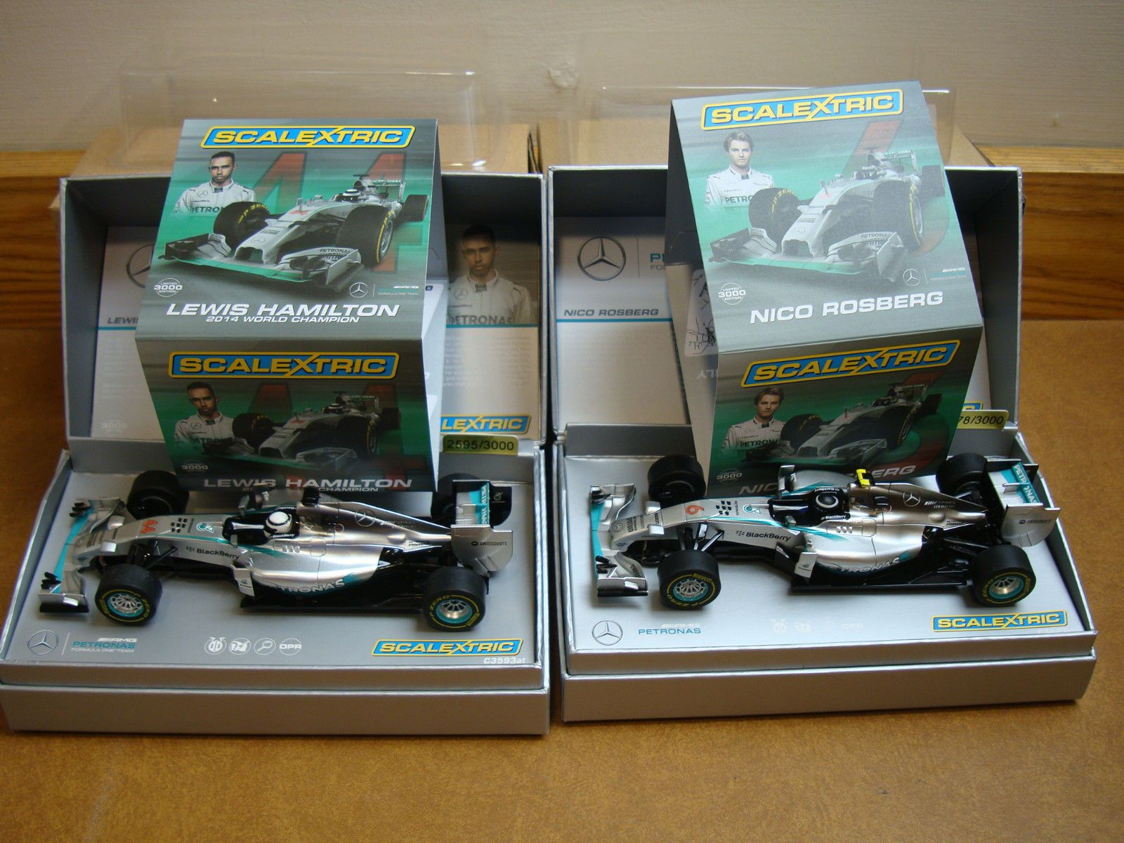 Scalextric C3621A and C3593A  Mercedes F1 2014  Nico Rosberg Lewis Hamin  https://t.co/aV5f7w2bAe https://t.co/Iqbh7FYnmo