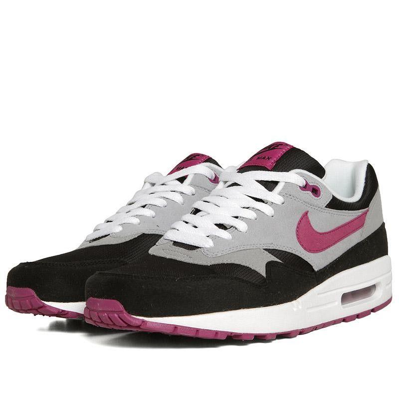 Nike Womens Air Max 1 BlackRave Pink Wolf Grey