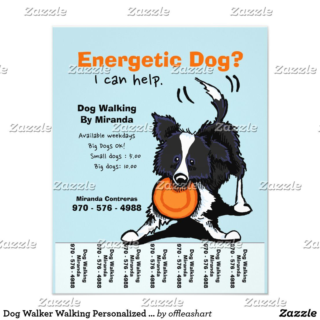 Create your own Flyer Zazzle.co.uk in 2020 Dog walking
