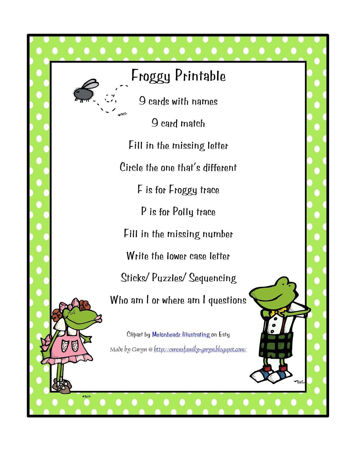 Froggy Printable