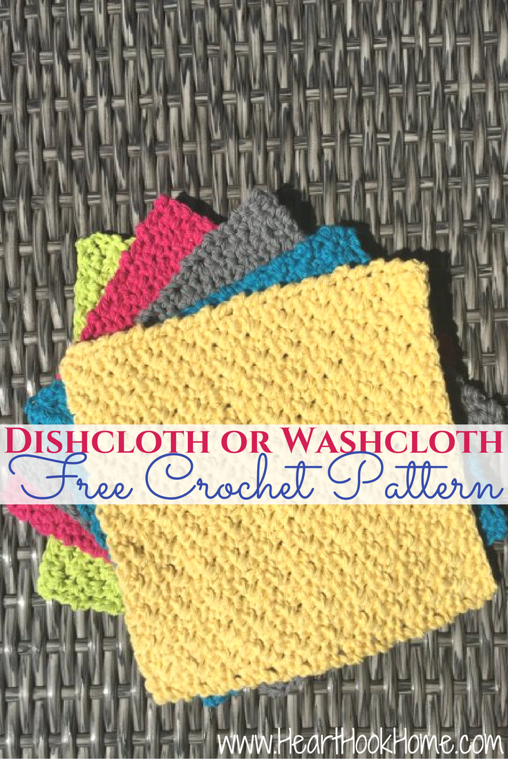 Quick and Easy Dishcloth or Washcloth Crochet Pattern | Puntadas
