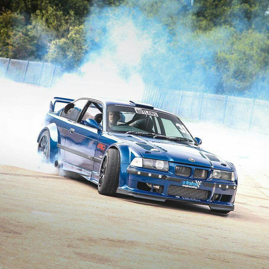 BMW E36 M3 Blue Widebody Smoke Show (With Images)