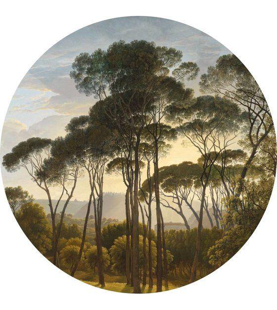 Behangcirkel Eigen Foto.Behang Cirkel Golden Age Landscape Multicolour Vliesbehang