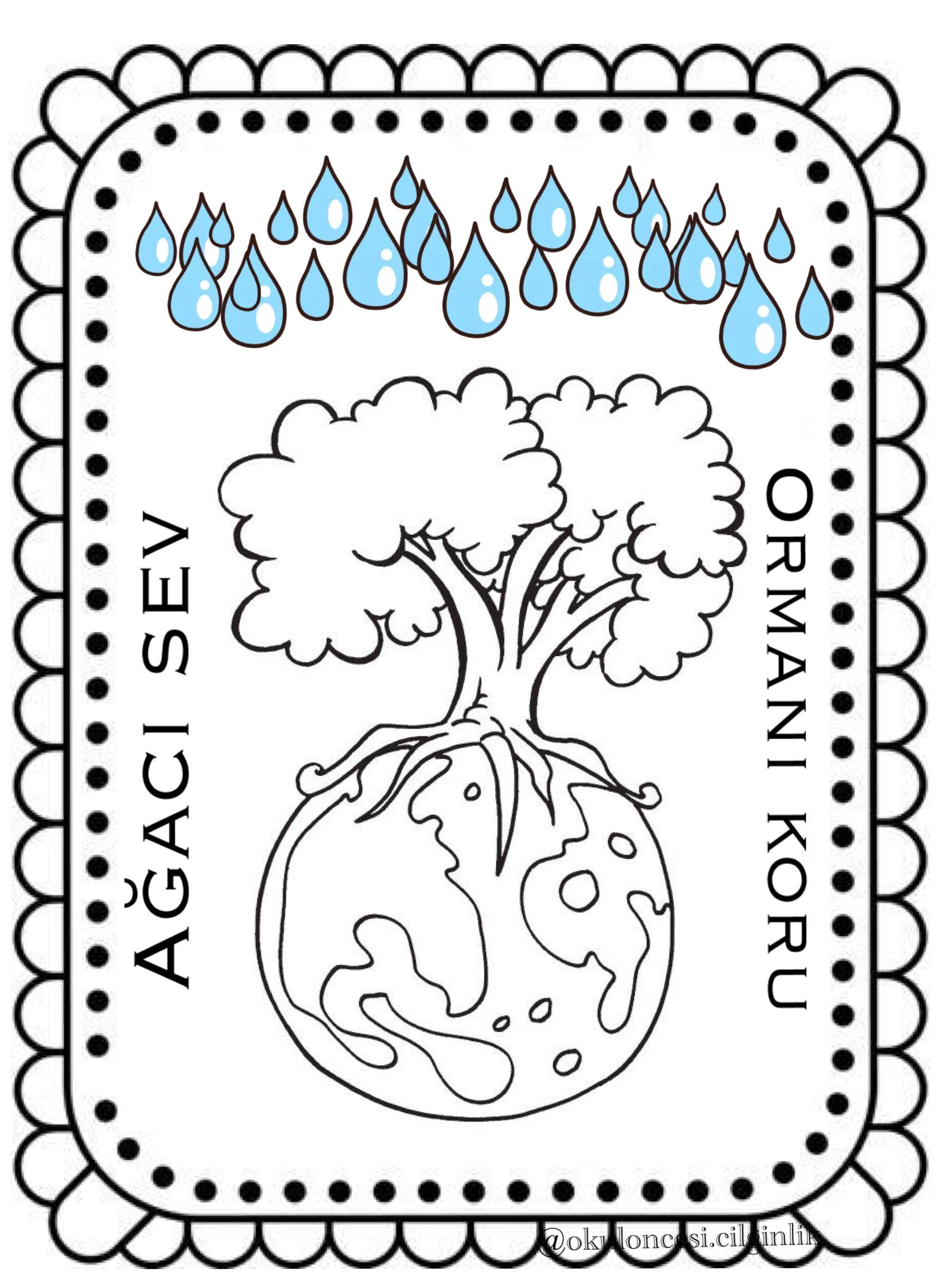 Caliskan Bir Basak Ogretmen Bunlar Da Orman Haftasina Ozel Hazirladigim Sayfalar Gule Gule Kullanin Bolca Begenmeyi Y Boyama Sayfalari Ormanlar Sanat