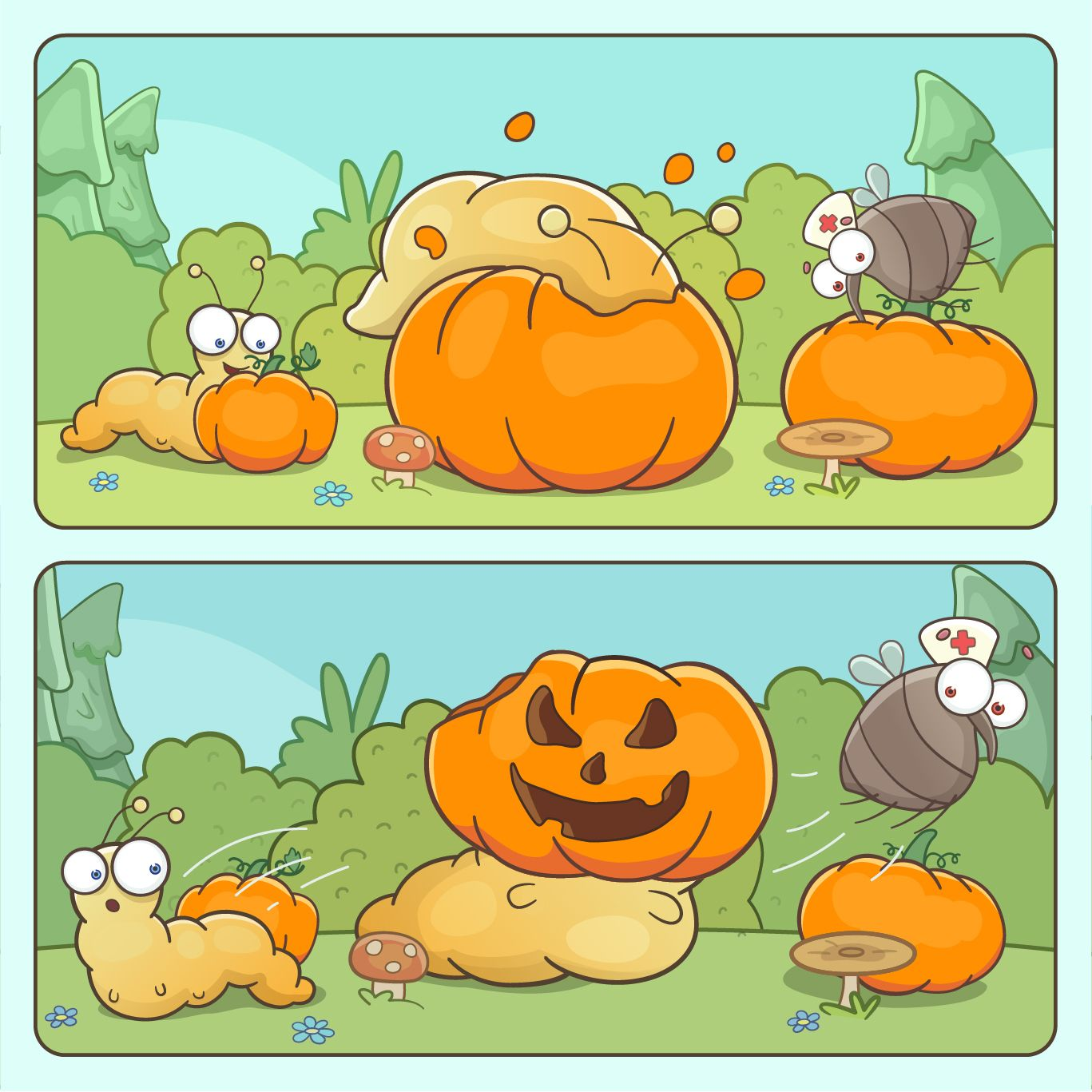 Unusual way to carve out a pumpkin. #halloween #halloween2019 #halloweeninspiration #halloweenideas #jackolantern #pumpkinseason #pumpkincarving #halloweencomic #funnycomic #cutecomic #pumpkinface #spookylicious #pumpkindrawing #pumpkinillustration #pumpkinideas #cuteart #funnyart #carvingpumpkin #pumpkinmeal