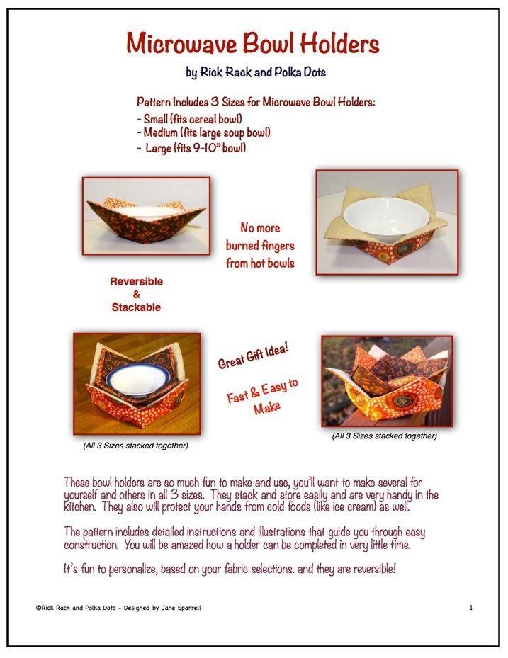 Fabric Microwave Bowl Holder Pattern Pattern For Microwave Bowl Classy Microwave Bowl Pattern