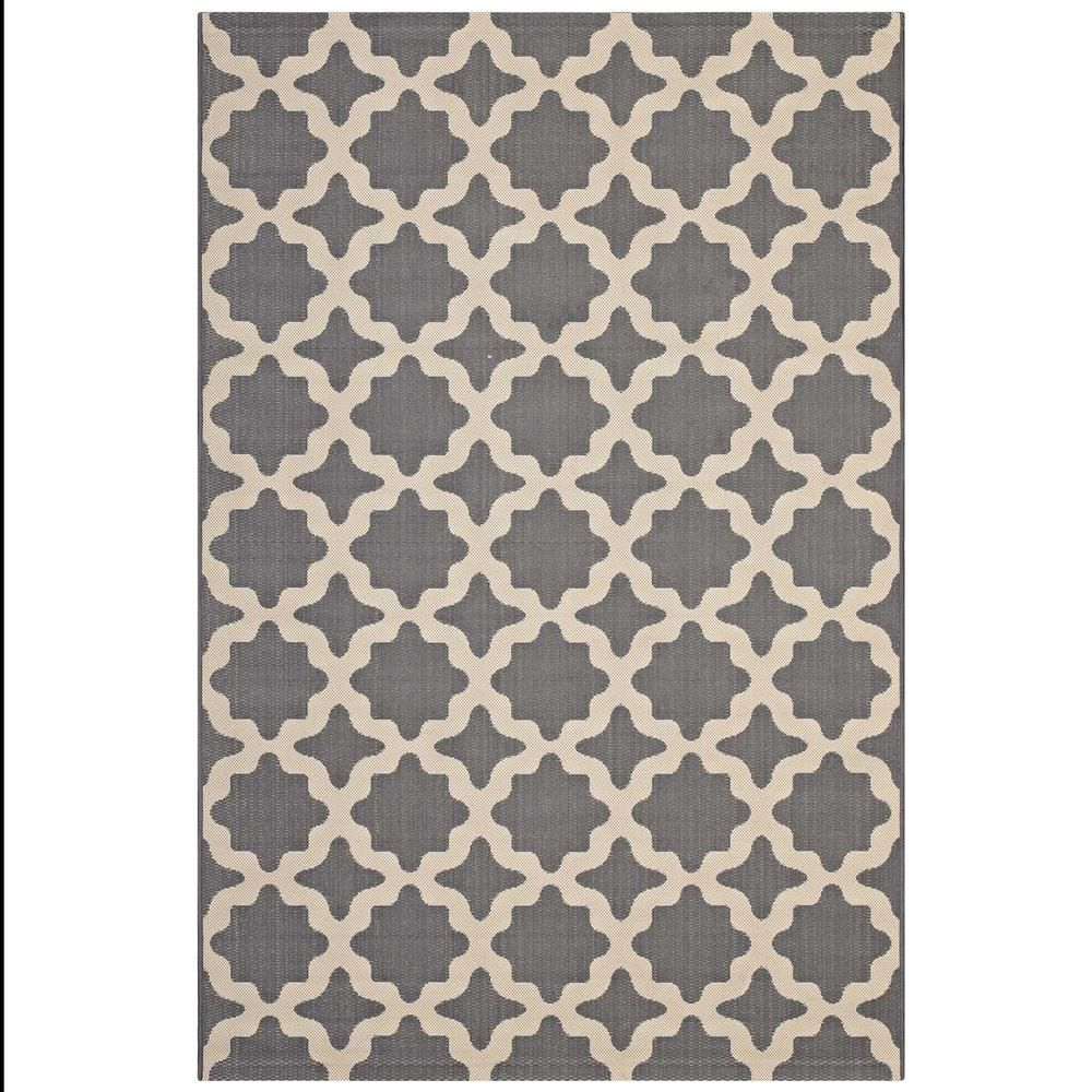 Modway Cerelia In Gray And Beige 8 Ft X 10 Ft Moroccan Trellis