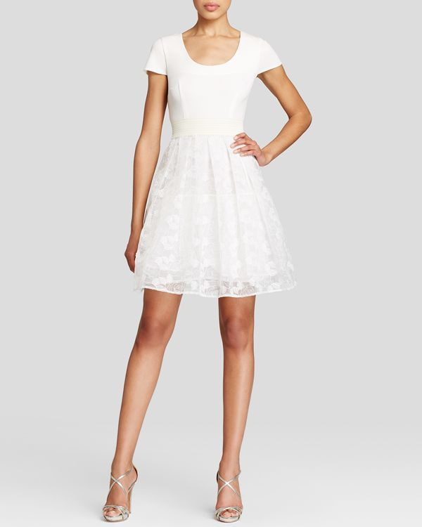 Tracy Reese Dress - Cap Sleeve Fit and Flare