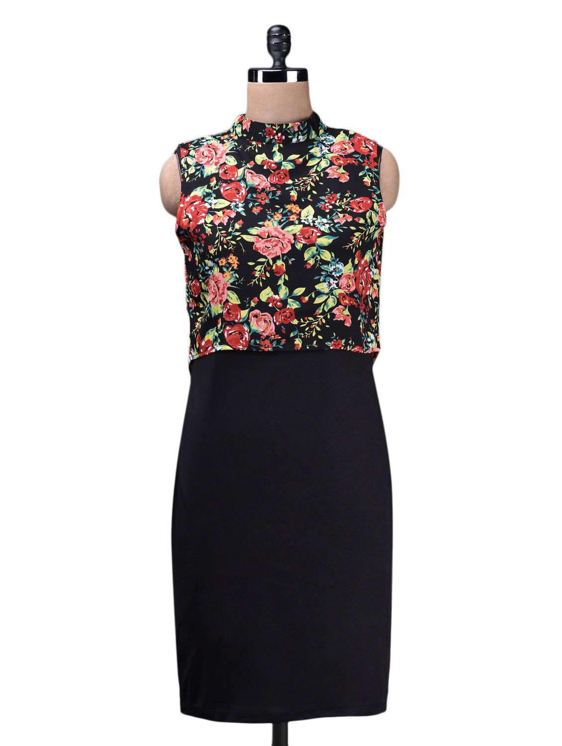 fba0c56c03a2c Sleeveless Floral Blouse Poly Knit Dress - Buy Quest Dresses For Women  Online in India - LimeRoad.com
