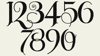 Number Font For Tattoo