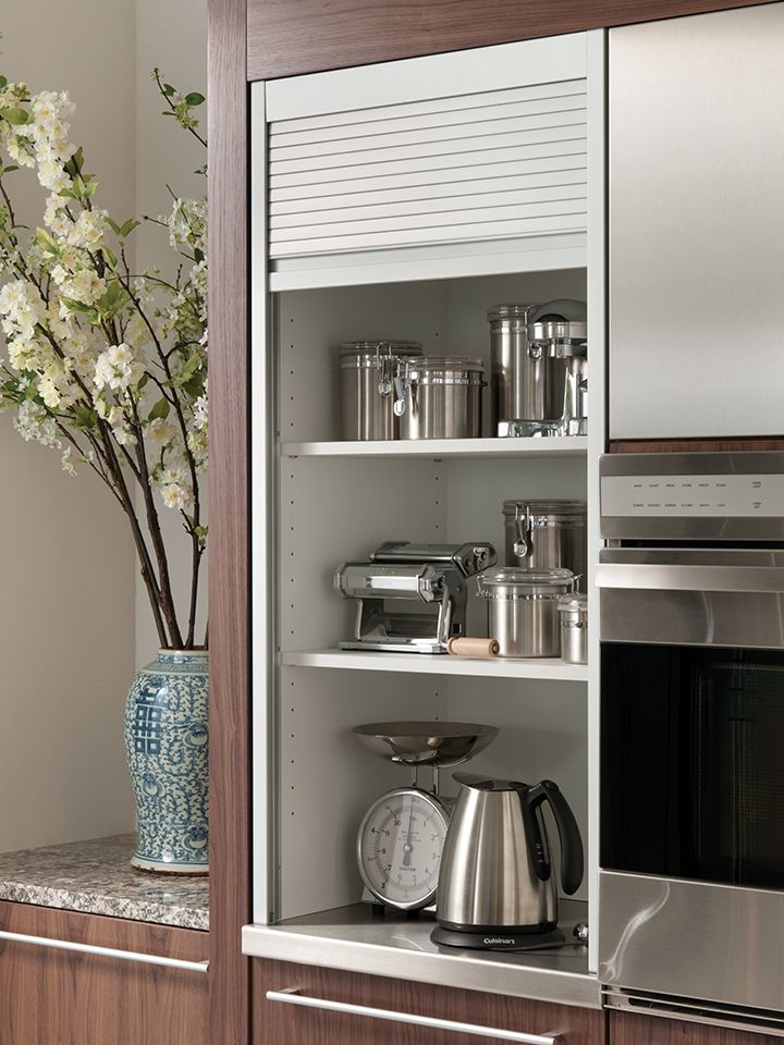 Aluminum Tambour Cabinet | Wood Mode | Fine Custom Cabinetry