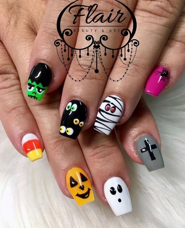 Pin by Tina Balicki on Halloween Nails | Halloween nails ...