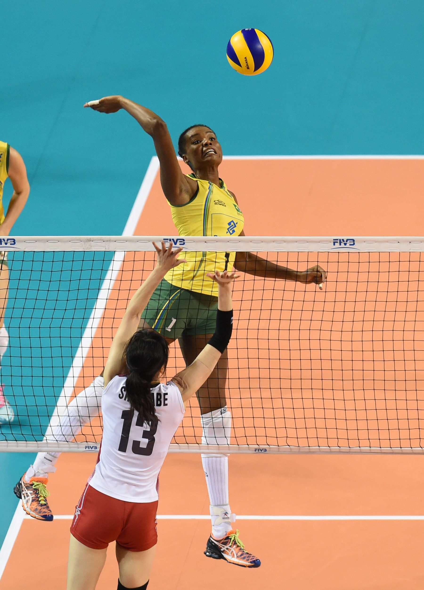 Fabiana Claudino Of Brazil Spikes The Ball Brazil Ball Spike