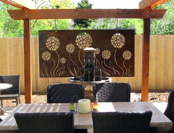 Patio Artwork Astounding Transform A Deck Of Wall Art For Outdoor .