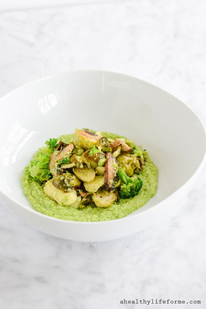 Roasted Vegetables with Broccoli Puree - A Healthy Life For Me