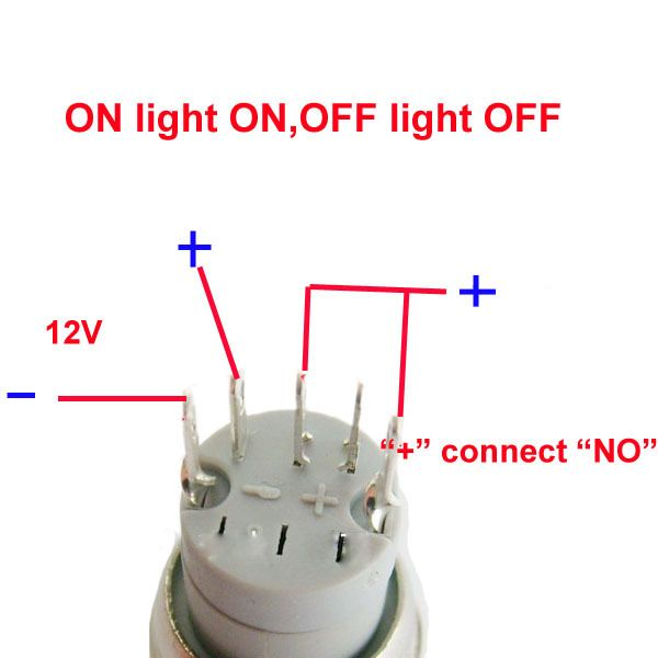 LED Power Push Button Switch 5 pin Google Search DIY