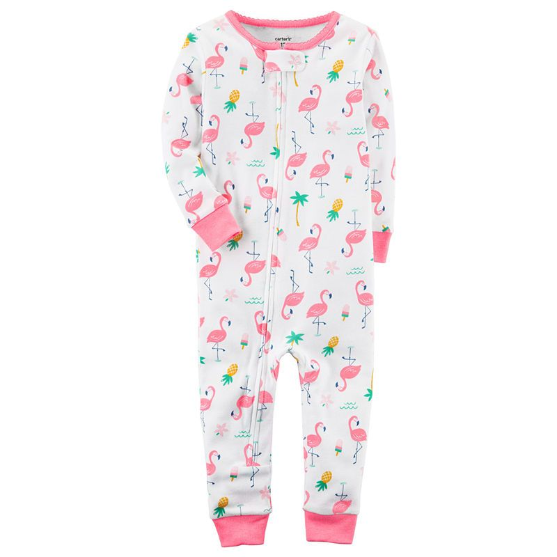 a5b44991e Carter s Full Zip Long Sleeve Footless One Piece Pajama-Baby Girls ...