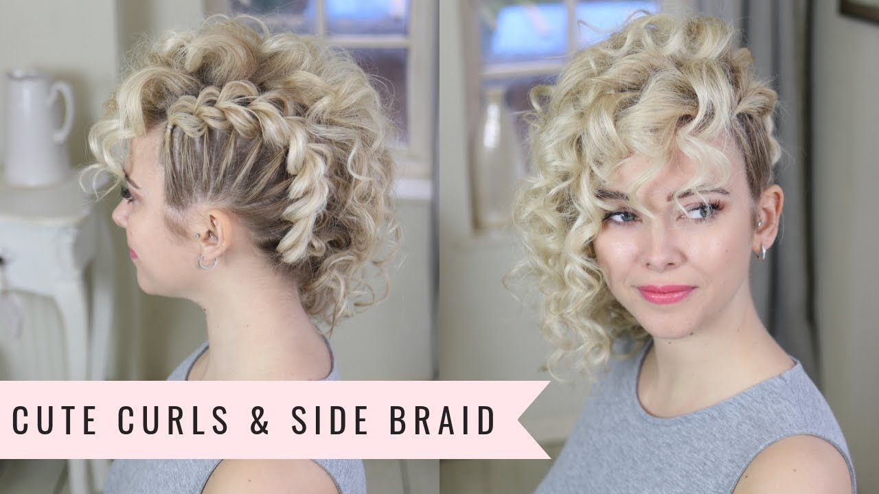 Punk 80 S Inspired Side Braid By Sweethearts Hair Braided Hairstyles Updo Braids For Short Hair Braided Hairstyles