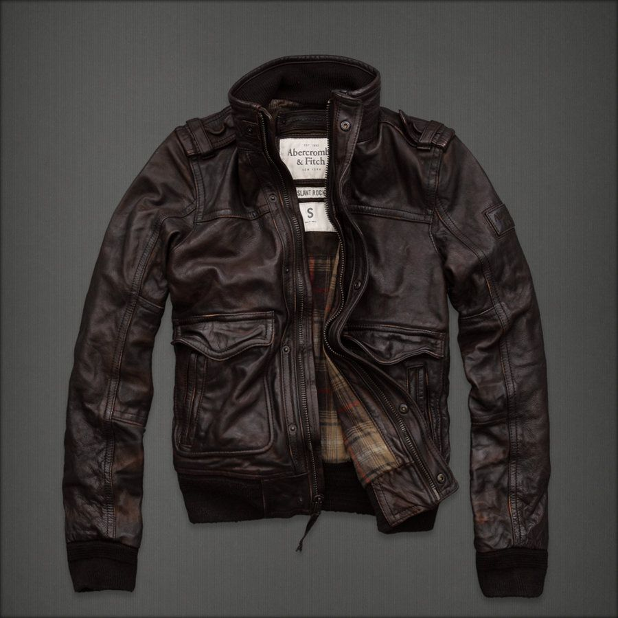 Abercrombie Fitch Shop Official Site Mens Outerwear Rollins Leather Flight Jacket Leather Jacket Brown Leather Jacket [ 900 x 900 Pixel ]