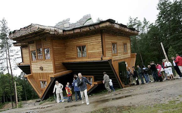 This brings a whole new meaning to 'upside down house'