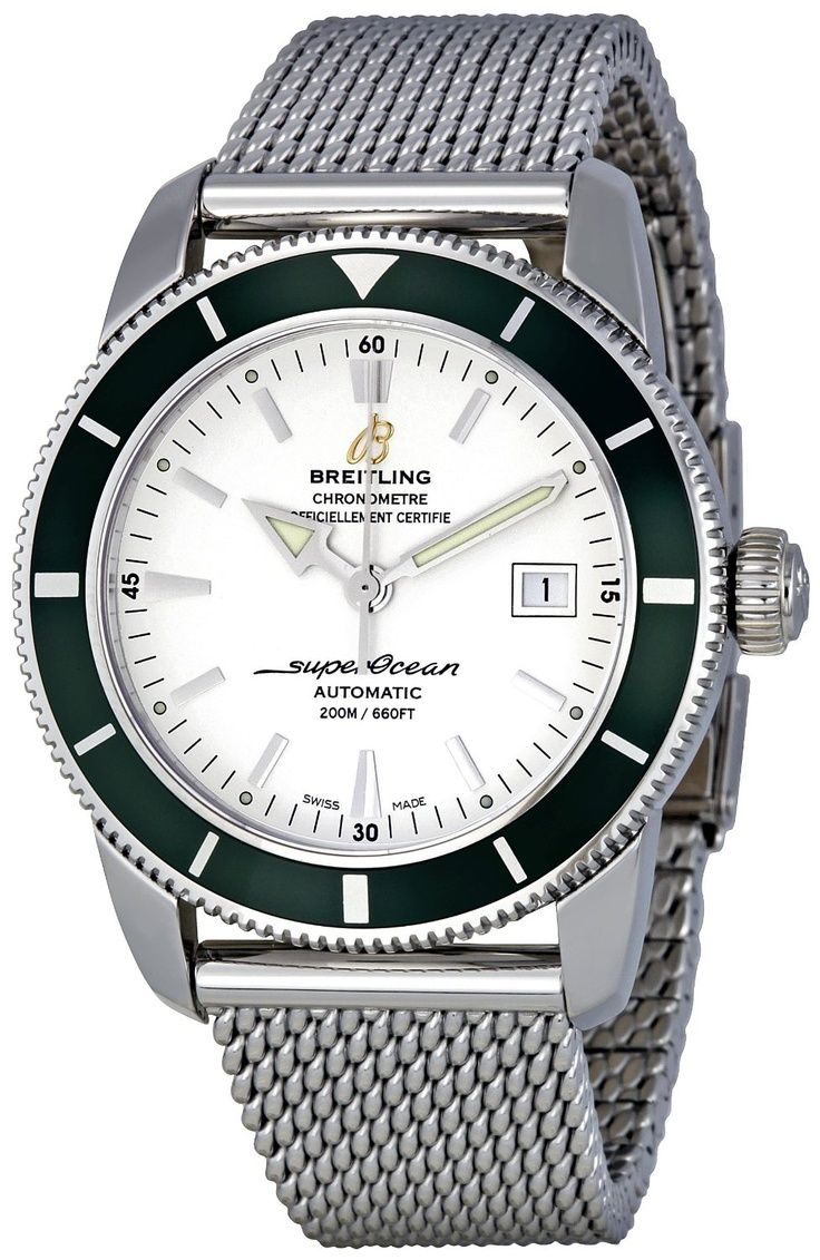 bfeaf2dd8f7 Breitling Men s A1732136 G717SS Silver Dial Aeromarine Superocean Heritage  Watch - watches