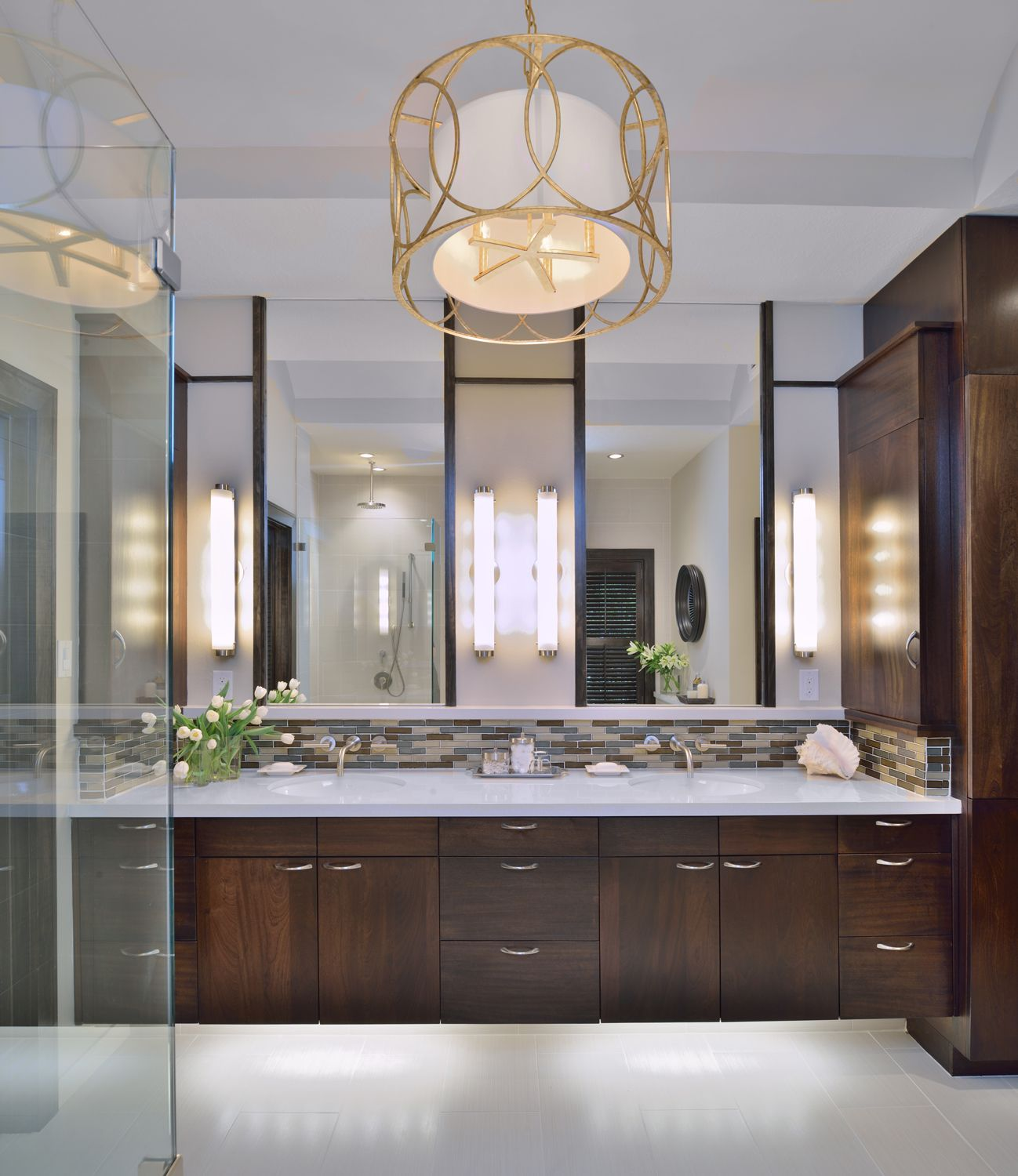 Picture Gallery Website Classy Master Bathroom Remodel Before And After With Modern Brown Cabinet Vanity On Flexible White Ceramic