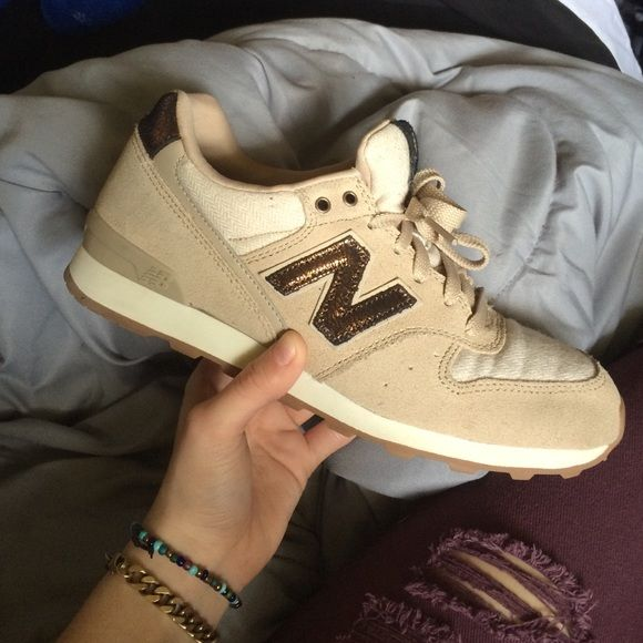 sz 7 nude / tan / cream new balances (hard to find worn a handful of times, but like all of my shoes, they're extremely clean and look brand new. the insoles are crazy comfortable, but they just sit in my closet. 10/10 condition New Balance Shoes Sneakers