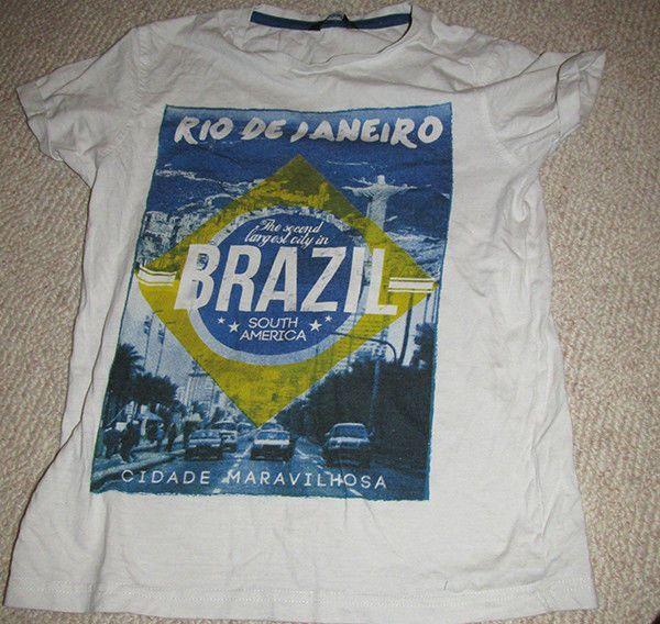 Boys t-shirt White with Rio Dr Janeiro Brazil print George  #womensclothing #rozasebay #ebay